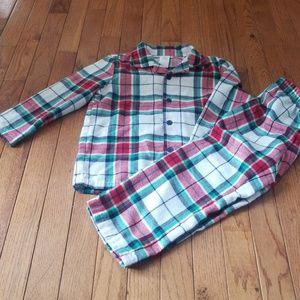 Gymboree Christmas plaid flannel pajamas 4t